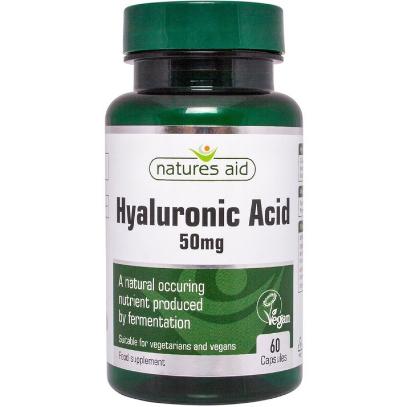 NATURES AID HYALURONIC ACID 50mg 60 VCAPS