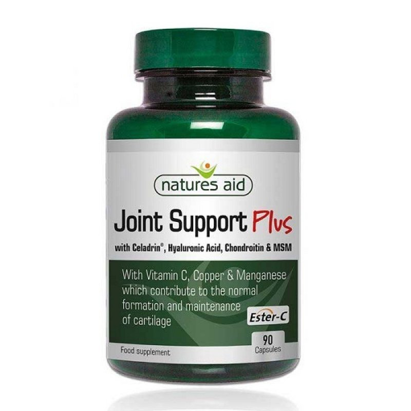 NATURES AID JOINT SUPPORT PLUS WITH CELADRIN, HYALURONIC ACID, ROSEHIP AND ESTER-C 90 VCAPS