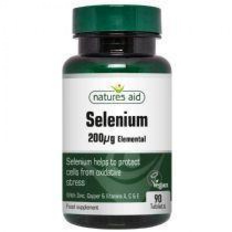 NATURES AID SELENIUM 200mg WITH ZINC AND VITAMINS A, C & E 90 TABS