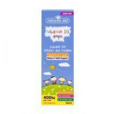 NATURES AID VITAMIN D3 400IU (10UG) MINI DROPS FOR INFANTS & CHILDREN (3 MONTHS - 5 YEARS) 50ML