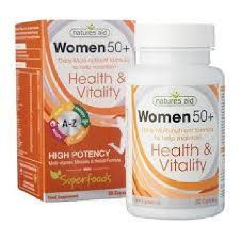 NATURES AID WOMEN S 50  MULTI-VITAMINS & MINERALS (WITH SUPERFOODS) 30 VCAPS