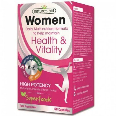 NATURES AID WOMEN S MULTI-VITAMINS & MINERALS (WITH SUPERFOODS) 60 VCAPS