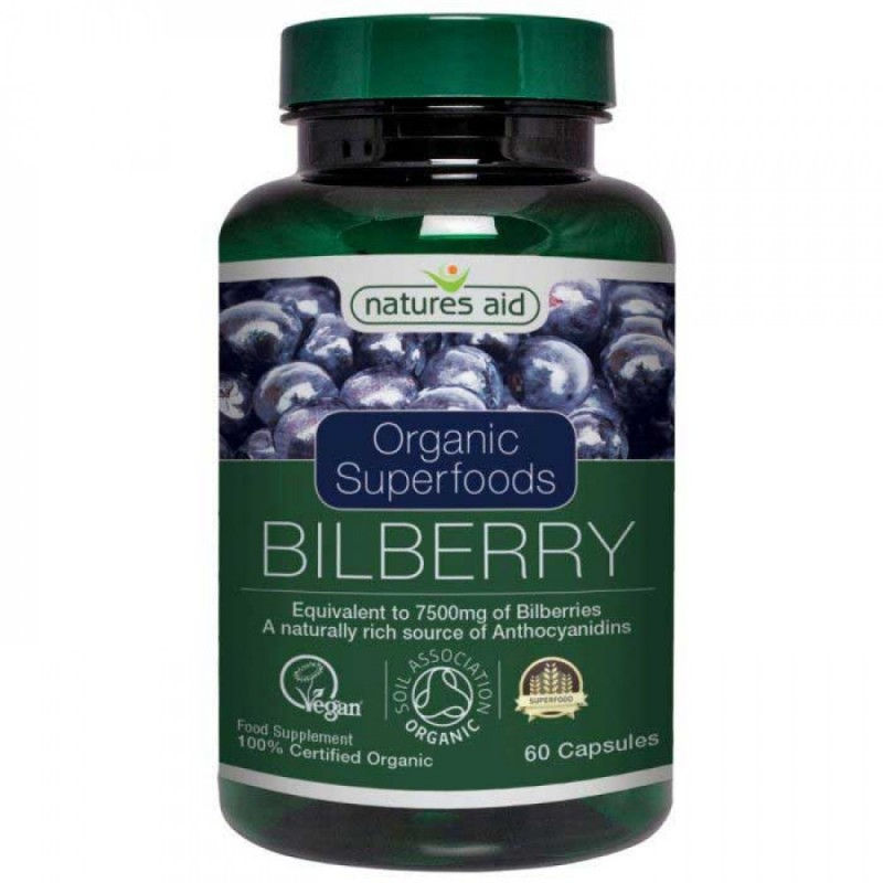 NATURES AID BILBERRY 75mg  60 VCAPS