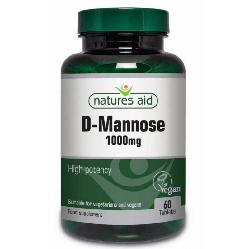 NATURES AID D-MANNOSE 1000MG 60 TABS