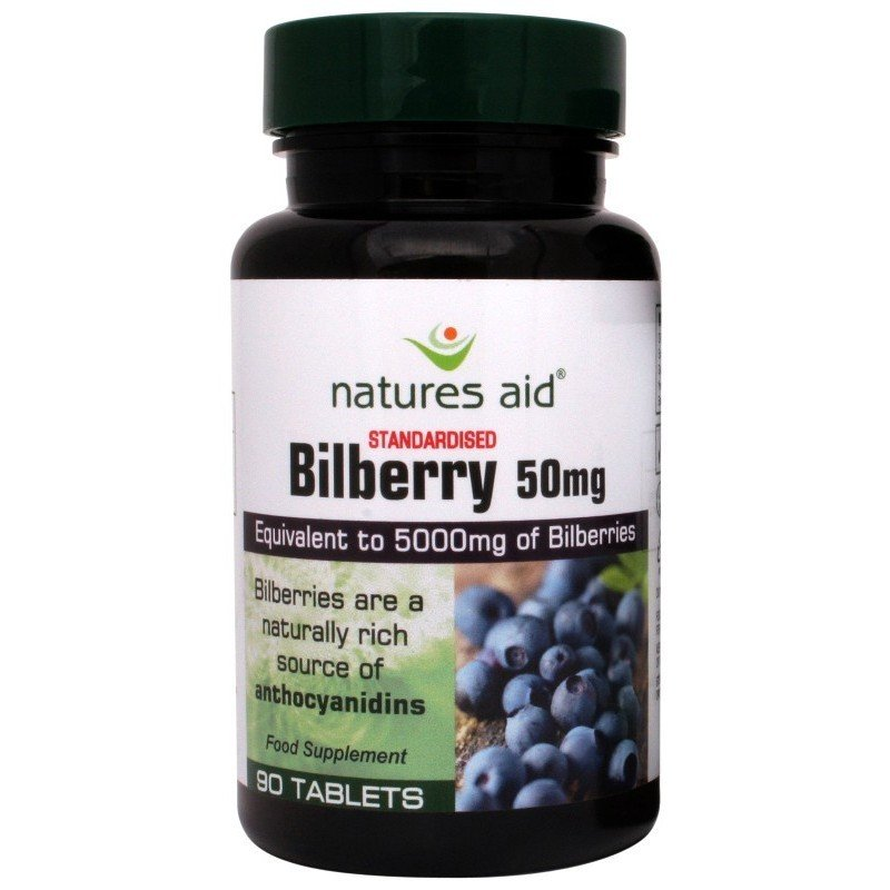 NATURES AID BILBERRY 50MG (5000MG EQUIV) 90 TABS