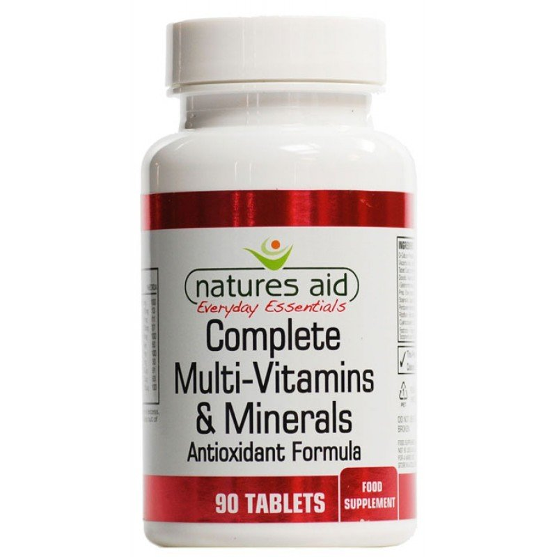 NATURES AID COMPLETE MULTIVITAMINS & MINERALS 90 CAPS