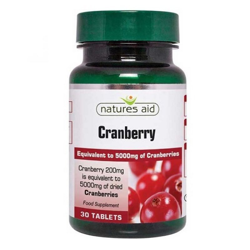 NATURES AID CRANBERRY 200MG (5000MG EQUIV) 30 TABS