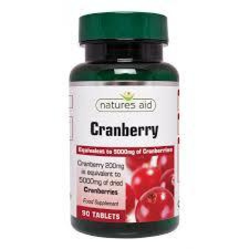 NATURES AID CRANBERRY 200mg (5000MG EQUIV) 90 TABS