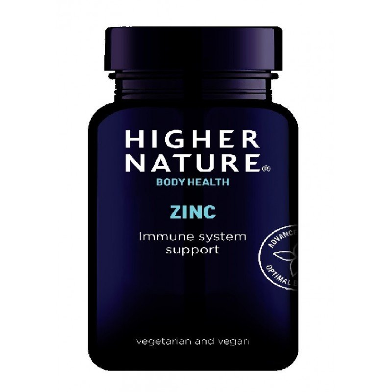 HIGHER NATURE ZINC 20mg WITH COPPER90T