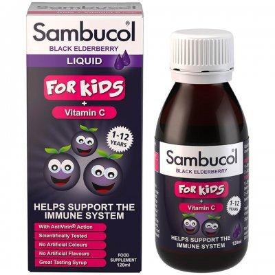 SAMBUCOL BLACK ELDERBERRY  FOR KIDS  VITAMIN C 120ML-ΥΠΟΣΤΗΡΙΞΗ ΤΟΥ ΑΝΟΣΟΠΟΙΗΤΙΚΟΥ