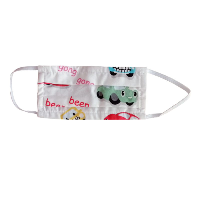 FLOST MASK DOUBLE LAYER FILTER FABRIC KIDS 8-12 YEARS CARS 1ΤΜΧ