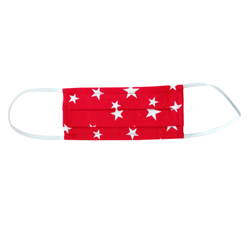 FLOST MASK DOUBLE LAYER FILTER FABRIC KIDS 8-12 YEARS STARS RED 1ΤΜΧ