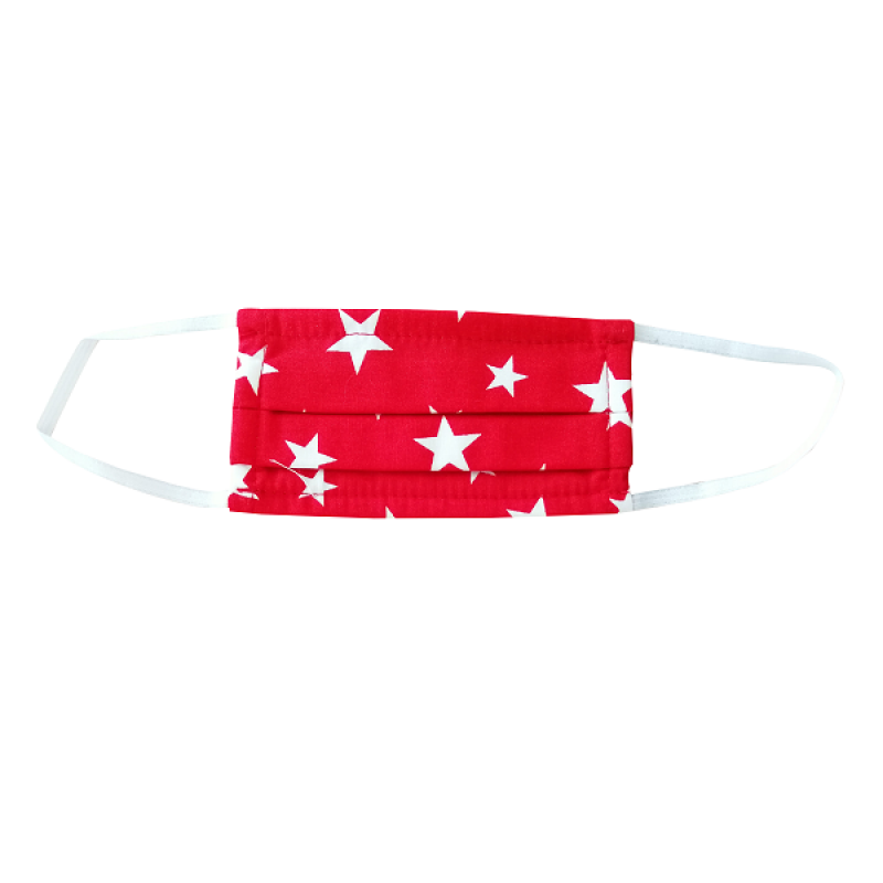 FLOST MASK DOUBLE LAYER FILTER FABRIC KIDS 3-7 YEARS STARS RED 1ΤΜΧ