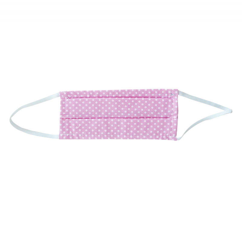 FLOST MASK DOUBLE LAYER FILTER FABRIC KIDS 8-12 YEARS DOTS PINK 1ΤΜΧ