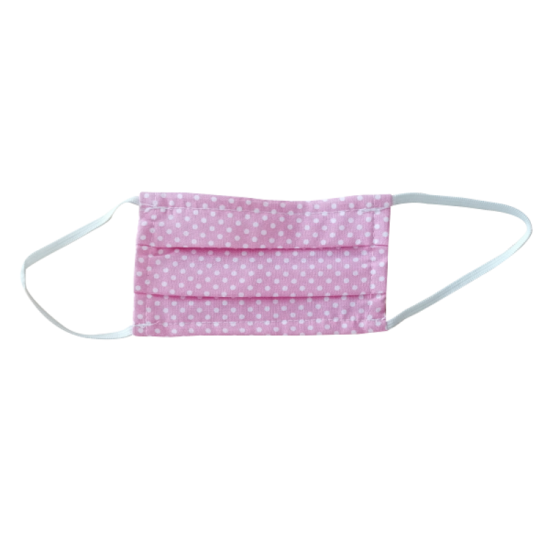 FLOST MASK DOUBLE LAYER FILTER FABRIC KIDS 3-7 YEARS DOTS PINK 1ΤΜΧ