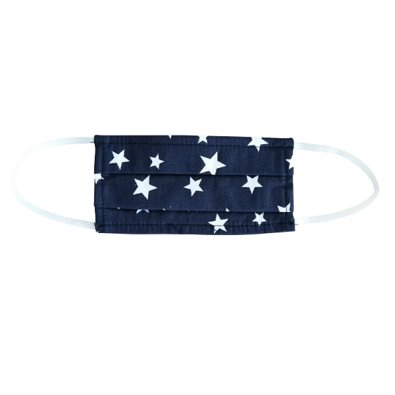 FLOST MASK DOUBLE LAYER FILTER FABRIC KIDS 8-12 YEARS STARS BLUE 1ΤΜΧ