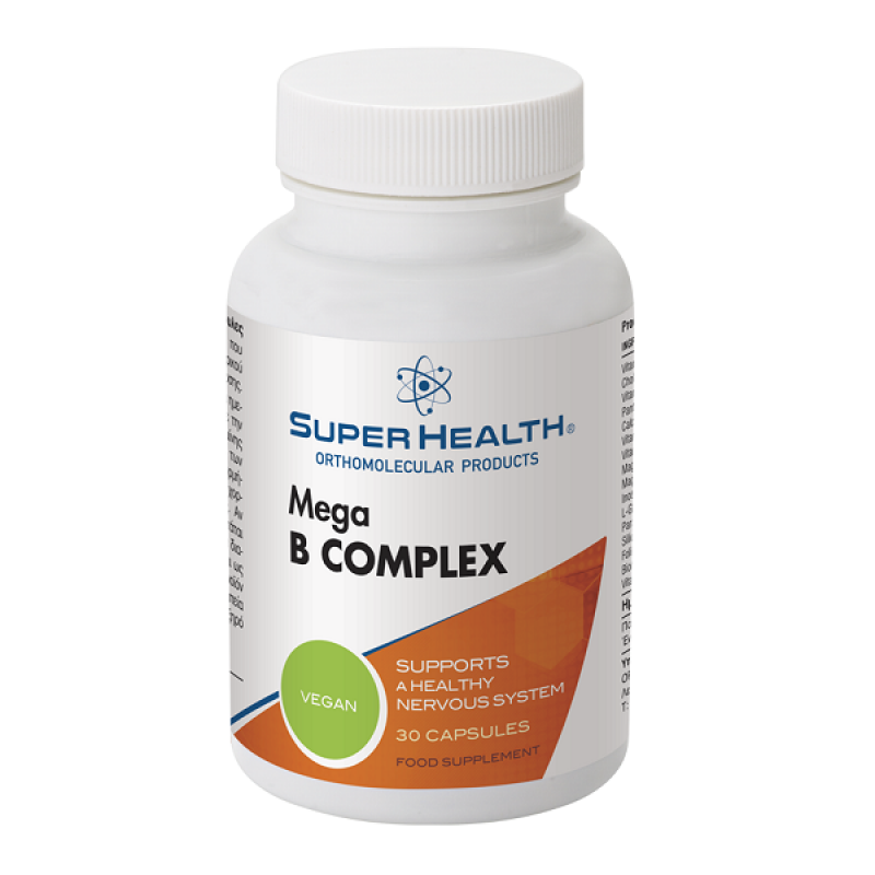 SUPER HEALTH MEGA B COMPLEX 30caps