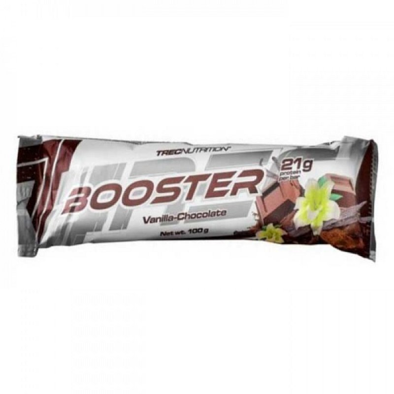 TREC NUTRITION BOOSTER PROTEIN BAR VANILLA-CHOLCOLATE 100GR