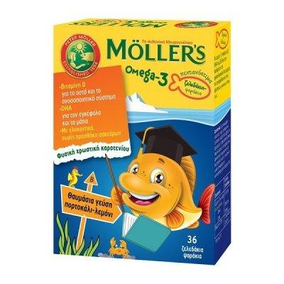 MOLLERS OMEGA-3 ΜΕ ΓΕΥΣΗ ΠΟΡΤΟΚΑΛΙ-ΛΕΜΟΝΙ 36 ζελεδάκια