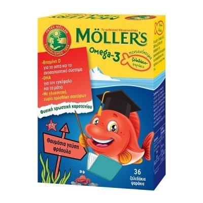 MOLLERS OMEGA-3 ΜΕ ΓΕΥΣΗ ΦΡΑΟΥΛΑ 36 ζελεδάκια