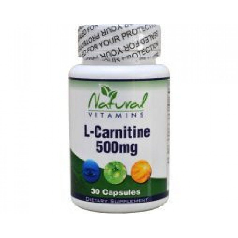 NATURAL VITAMINS L-CARNITINE 500MG 30 CAPS