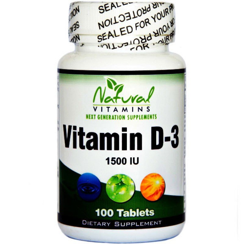 NATURAL VITAMINS VITMIN D-3 1,500 IU 100 TABS