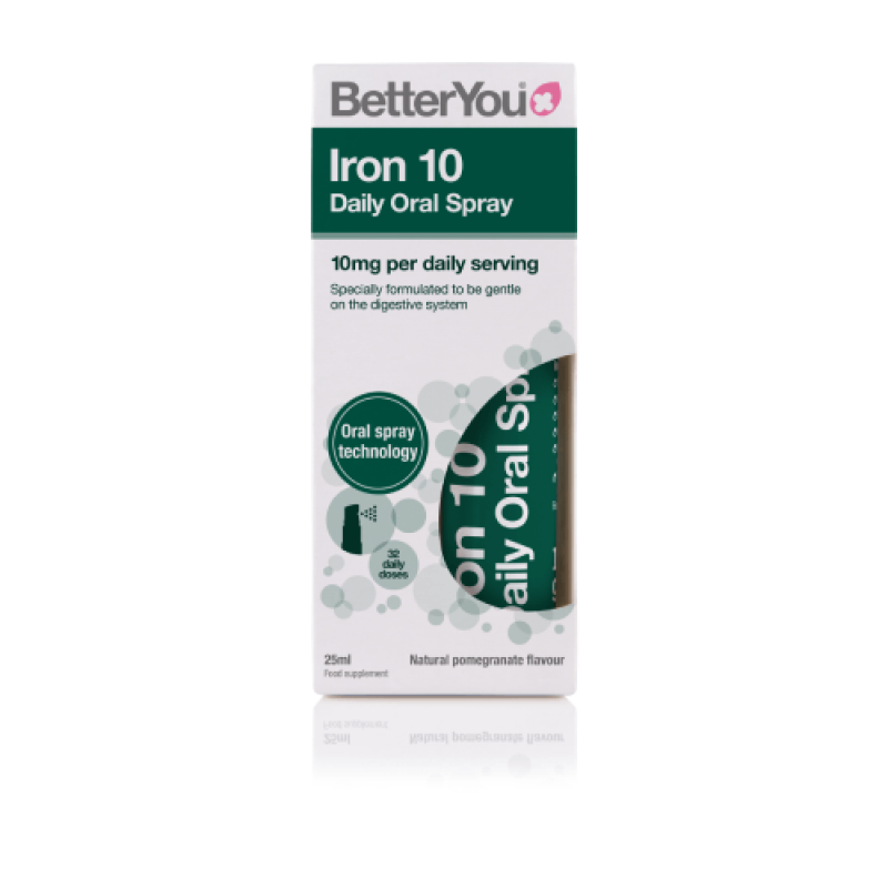 BETTER YOU IRON 10 DAILY ORAL SPRAY 10MG 25ML
