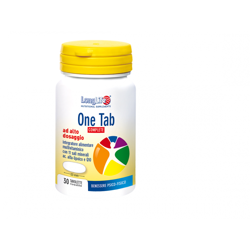 LONGLIFE One Tab Complete 30tbs Πολυβιταμίνη με 11 μεταλλικά στοιχεία